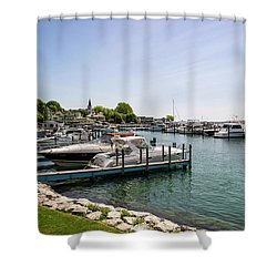 Mackinac Island Marina Shower Curtain