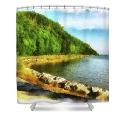 Mackinac Island Michigan's Northeast Shore Shower Curtain