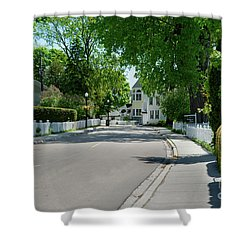Mackinac Island Street Shower Curtain