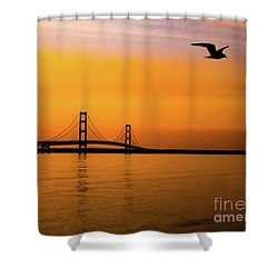Mackinaw Sunset  Shower Curtain