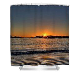 Mackinsie Beach Sun Burst Shower Curtain