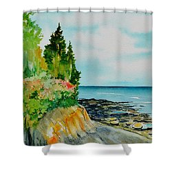 Mackworth Island Maine  Shower Curtain