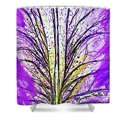 Macro Iris Petal Shower Curtain