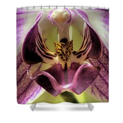 Macro Orchid Shower Curtain