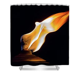 Macro Torch Shower Curtain