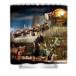 Macy's Miracle On 34th Street Christmas Window Shower Curtain