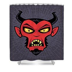 Mad Devil Shower Curtain by John Schwegel