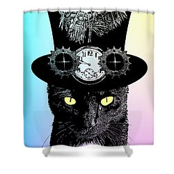 Mad Hatter Cat Shower Curtain
