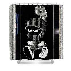 Mad Marvin Shower Curtain