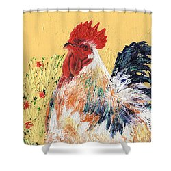 Mad Max With Poppies Shower Curtain by Laura Gabel