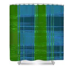Mad Men Plaid Shower Curtain