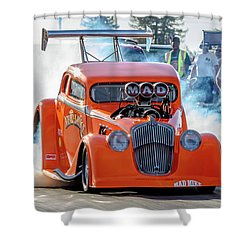 Mad Mike Racing Shower Curtain