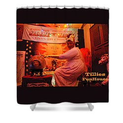 Madam Mercy  Shower Curtain