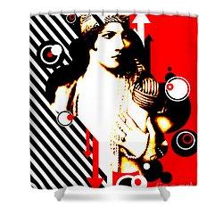 Madam Stripe Shower Curtain by Chris Andruskiewicz