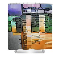 Shower Curtain featuring the digital art Made For Each Other by Wendy J St Christopher