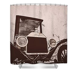 Made In Usa Shower Curtain by Caitlyn  Grasso