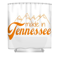 Shower Curtain featuring the digital art Made In Tennessee Orange by Heather Applegate