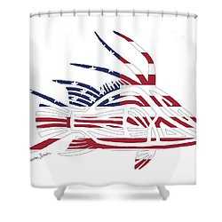 Made In The Usa Tribal Hogfish Shower Curtain