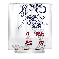 Made In The Usa Tribal Mermaid Shower Curtain