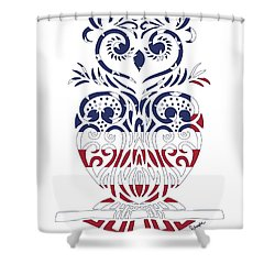 Made In The Usa Tribal Owl Shower Curtain