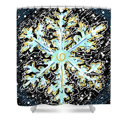 Madeline Snowflake Shower Curtain