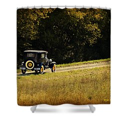 Madison County Back Roads-ford Shower Curtain by Kathy M Krause