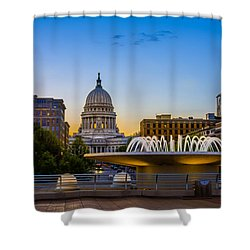 Madison Domes Shower Curtain by Mark Goodman