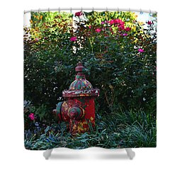 Madison Fire Hydrant Shower Curtain