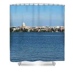 Madison Skyline From Picnic Point Shower Curtain