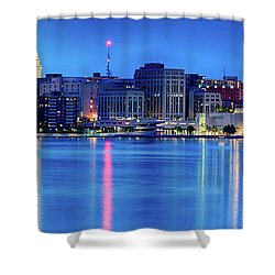 Madison Skyline Reflection Shower Curtain