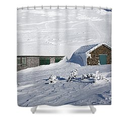 Madison Spring Hut- White Mountains New Hampshire Shower Curtain by Erin Paul Donovan