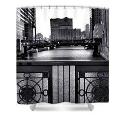 Madison Street Bridge - 3 Shower Curtain by Ely Arsha