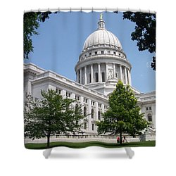 Madison Wi State Capitol Shower Curtain by Anita Burgermeister