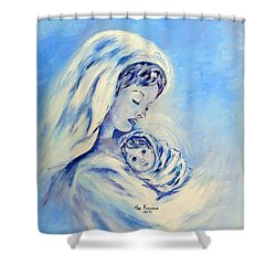 Madonna And Child By May Villeneuve Shower Curtain