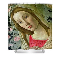 Madonna And Child Crowned By Angels Shower Curtain by Sandro Botticelli