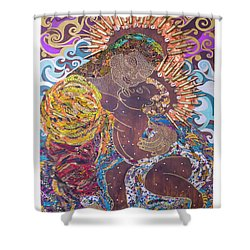 Madonna And Child The Sacred And Profane Shower Curtain