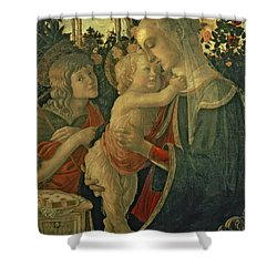 Madonna And Child With St. John The Baptist Shower Curtain by Sandro Botticelli