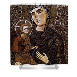 Madonna Icon Shower Curtain by Granger