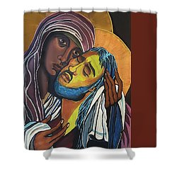 Madonna Of The Streets Shower Curtain