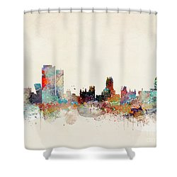 Shower Curtain featuring the painting Madrid Spain by Bri B