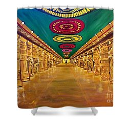 Madurai Meenakshi Temple Mandapam Shower Curtain