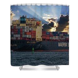 Maersk Sealand Leaving Charleston South Carolina Shower Curtain