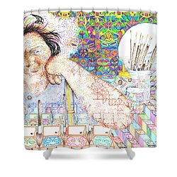 Maestro- Alfredo Arreguin Shower Curtain