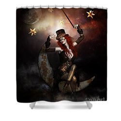 Maestro Steampunk Shower Curtain by Shanina Conway
