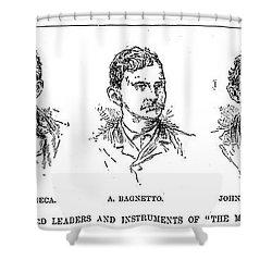 Mafia Leaders, C1890 Shower Curtain by Granger
