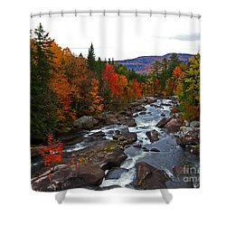 Magalloway River In Fall Shower Curtain