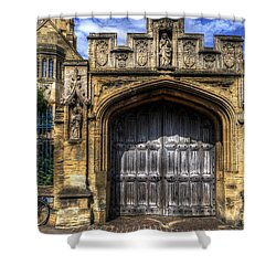Magdalen College Door - Oxford Shower Curtain