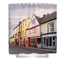 Shower Curtain featuring the photograph Magdalene Street Cambridge by Gill Billington