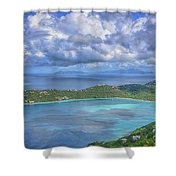 Magens Bay  Shower Curtain by Olga Hamilton