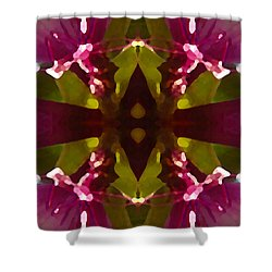 Magent Crystal Flower Shower Curtain by Amy Vangsgard